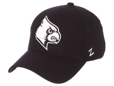 Louisville Cardinals Zephyr NCAA Black White Stretch Cap