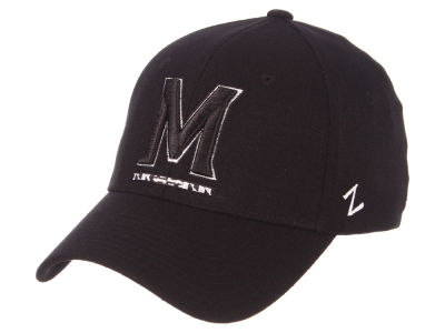Maryland Terrapins Zephyr NCAA Black White Stretch Cap