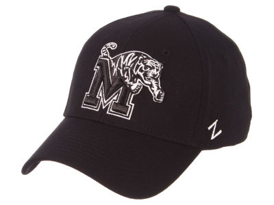 Memphis Tigers Zephyr NCAA Black White Stretch Cap