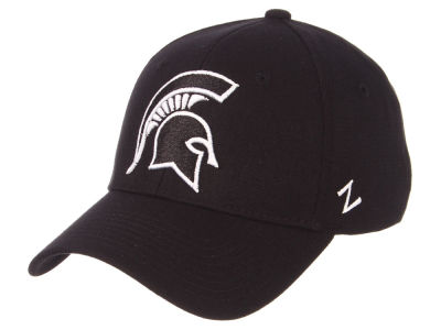 Michigan State Spartans Zephyr NCAA Black White Stretch Cap
