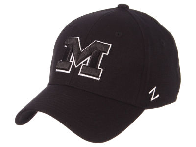 Michigan Wolverines Zephyr NCAA Black White Stretch Cap