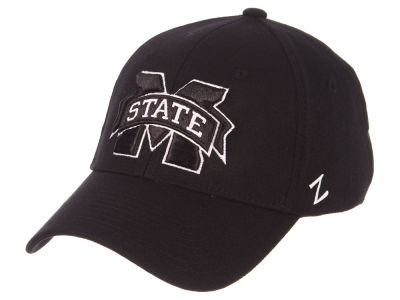 Mississippi State Bulldogs Zephyr NCAA Black White Stretch Cap