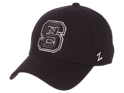 North Carolina State Wolfpack Zephyr NCAA Black White Stretch Cap