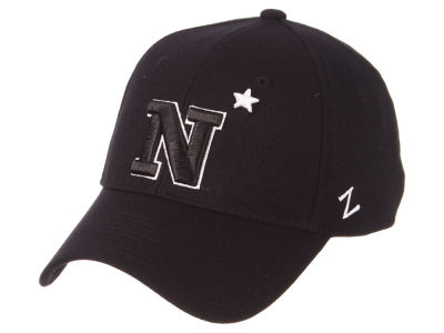 Navy Midshipmen Zephyr NCAA Black White Stretch Cap