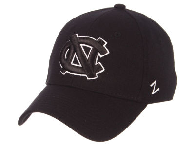 North Carolina Tar Heels Zephyr NCAA Black White Stretch Cap d12a236d0480