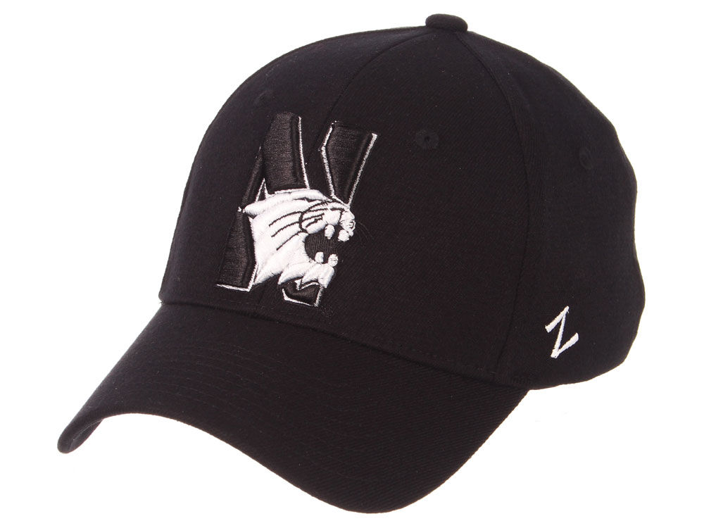 Northwestern Wildcats Zephyr NCAA Black White Stretch Cap  039ec47daf6a