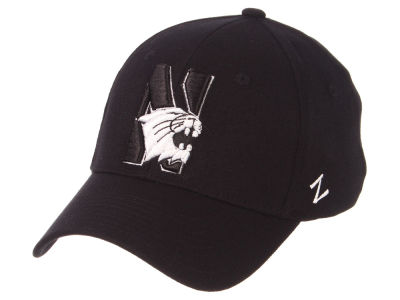 Northwestern Wildcats Zephyr NCAA Black White Stretch Cap