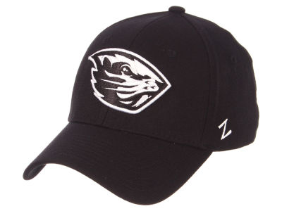 Oregon State Beavers Zephyr NCAA Black White Stretch Cap