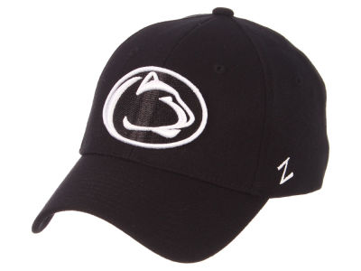 Penn State Nittany Lions Zephyr NCAA Black White Stretch Cap