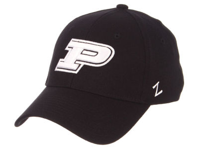 Purdue Boilermakers Zephyr NCAA Black White Stretch Cap