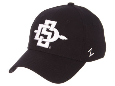 San Diego State Aztecs Zephyr NCAA Black White Stretch Cap