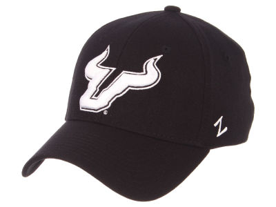 South Florida Bulls Zephyr NCAA Black White Stretch Cap