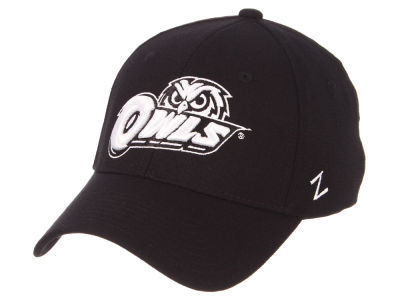 Temple Owls Zephyr NCAA Black White Stretch Cap