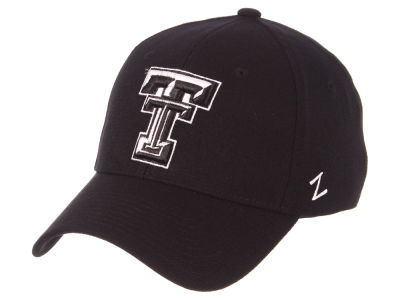 Texas Tech Red Raiders Zephyr NCAA Black White Stretch Cap