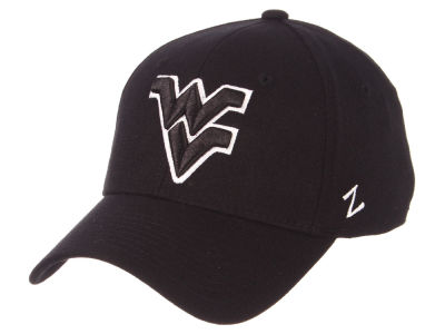 West Virginia Mountaineers Zephyr NCAA Black White Stretch Cap