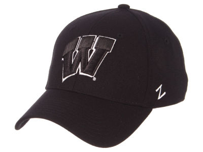 Wisconsin Badgers Zephyr NCAA Black White Stretch Cap