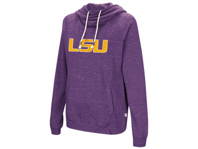 LSU Tigers Colosseum NCAA Women's Speckled Fleece Hooded Sweatshirt