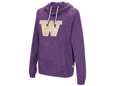 Washington Huskies Colosseum NCAA Women's Speckled Fleece Hooded Sweatshirt