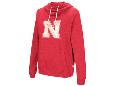 Nebraska Cornhuskers Colosseum NCAA Women's Speckled Fleece Hooded Sweatshirt