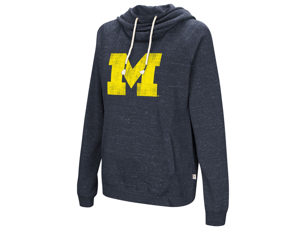 Michigan Wolverines Colosseum NCAA Women s Speckled Fleece Hooded Sweatshirt   d2cf63a83
