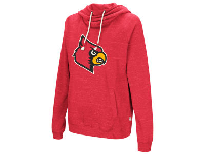 Louisville Cardinals Colosseum NCAA Women's Speckled Fleece Hooded Sweatshirt