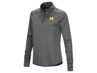 Michigan Wolverines Colosseum NCAA Women's Shark Quarter Zip Pullover