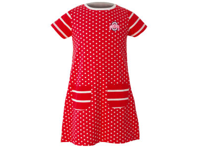 Ohio State Buckeyes Garb NCAA Toddler Girls Penny Dress