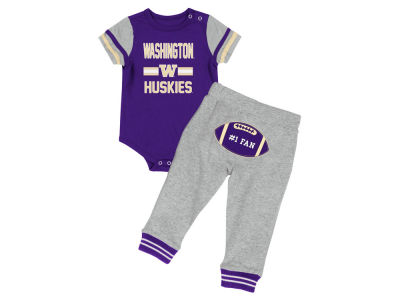 Washington Huskies Colosseum NCAA Newborn Football Onesie Pant Set