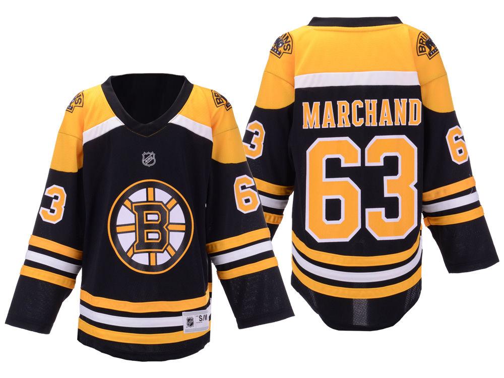 1958bda4c ... buy boston bruins brad marchand outerstuff nhl youth player replica  jersey lids 22cd5 eab77