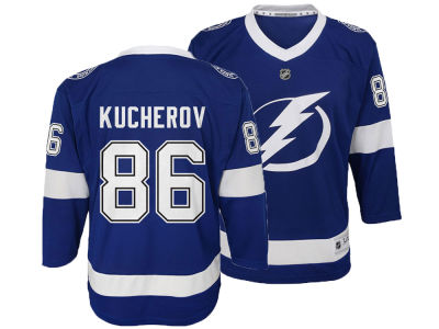 Tampa Bay Lightning Nikita Kucherov adidas NHL Kids Player Replica Jersey