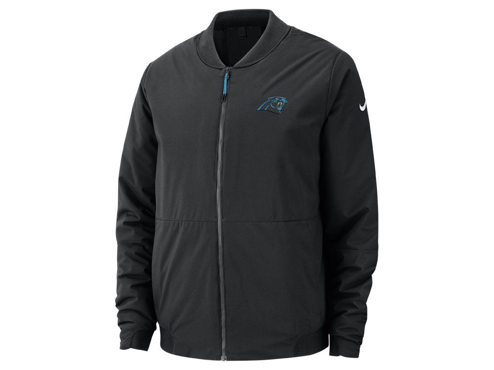Carolina Panthers Nike NFL Men s Bomber Jacket  f4887f476