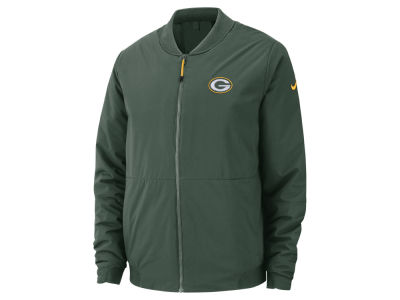 Green Bay Packers Nike NFL Men s Bomber Jacket 22df4ad71
