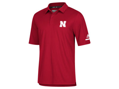 Nebraska Cornhuskers adidas NCAA Men's Team Iconic Coaches Polo