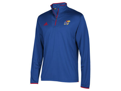Kansas Jayhawks adidas NCAA Men's Team Iconic Quarter Zip Pullover