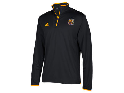 Kennesaw State Owls adidas NCAA Men's Team Iconic Quarter Zip Pullover