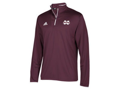 Mississippi State Bulldogs adidas NCAA Men's Team Iconic Quarter Zip Pullover