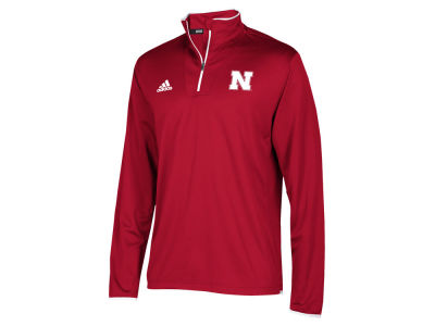 Nebraska Cornhuskers adidas NCAA Men's Team Iconic Quarter Zip Pullover