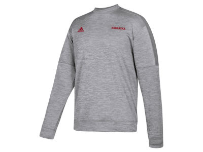 Nebraska Cornhuskers adidas NCAA Men's Team Issue Fleece Crew Sweatshirt