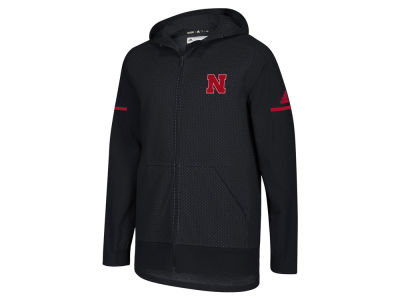 Nebraska Cornhuskers adidas NCAA Men's Squad Full Zip Jacket