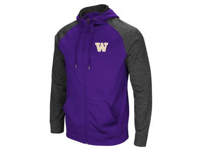 Washington State Cougars Colosseum NCAA Men's Magic Rays Full Zip Hooded Sweatshirt