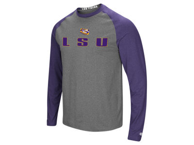 LSU Tigers Colosseum NCAA Men's Social Skills Long Sleeve Raglan T-shirt