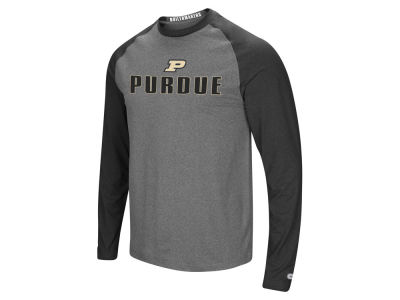 Purdue Boilermakers Colosseum NCAA Men's Social Skills Long Sleeve Raglan T-shirt