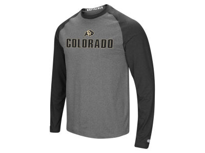 Colorado Buffaloes Colosseum NCAA Men's Social Skills Long Sleeve Raglan T-shirt