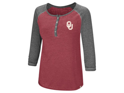 Oklahoma Sooners Colosseum NCAA Women's Burnout Heather Henley T-shirt