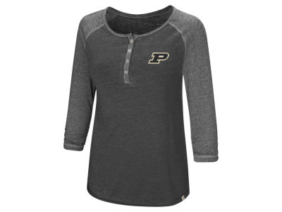 Purdue Boilermakers Colosseum NCAA Women's Burnout Heather Henley T-shirt