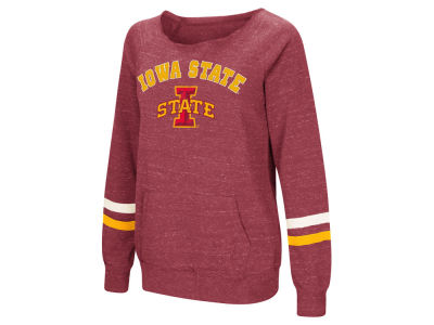 Iowa State Cyclones Colosseum NCAA Women's Off the Shoulder Fleece Sweatshirt