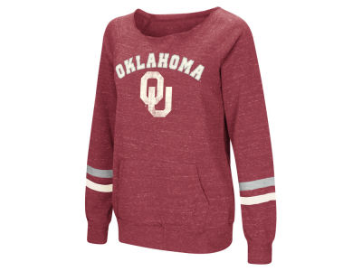 Oklahoma Sooners Colosseum NCAA Women's Off the Shoulder Fleece Sweatshirt