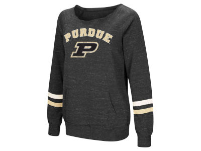 Purdue Boilermakers Colosseum NCAA Women's Off the Shoulder Fleece Sweatshirt
