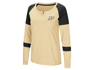Purdue Boilermakers Colosseum NCAA Women's Colorblocked Raglan Long Sleeve T-Shirt