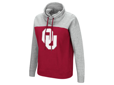 Oklahoma Sooners Colosseum NCAA Women's Logo Funnel Neck Hooded Sweatshirt